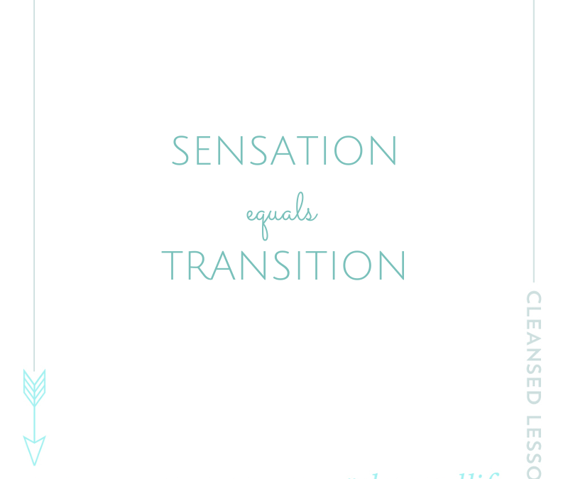 Why Sensation = Transformation (and how to find balance)