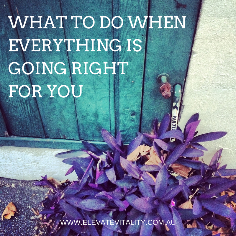 what to do when everything is going right for you elevate vitality
